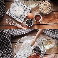 搅一搅就的超美味㊙️高纤燕麦饼干的做法图解1
