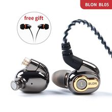 AK Blon BL 05 BL05 BL03 מקצועי 10mm פחמן Nanotube סרעפת גבוהה דינמי HIFI אוזניות עם נתיק כבל 2pin 0.78mm