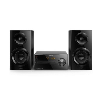 Mini Hifi Philips BTM2560/12 USB Bluetooth FM 70W Black