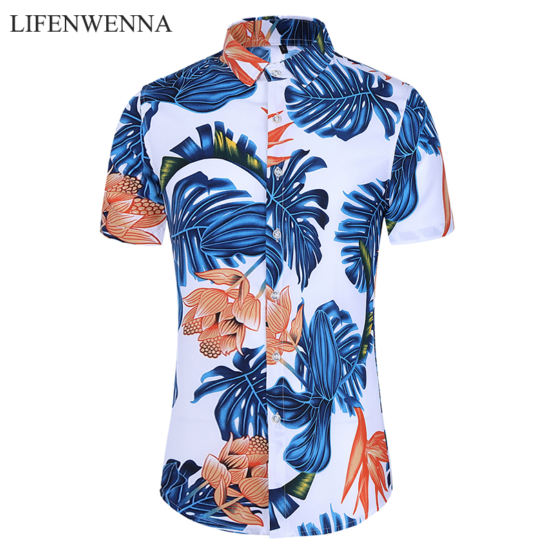 5XL 6XL 7XL Shirt Men Summer New Fashion Personality Printing Short Sleeve Shirt Men 2020 Casual Plus Size Business Office Shirt