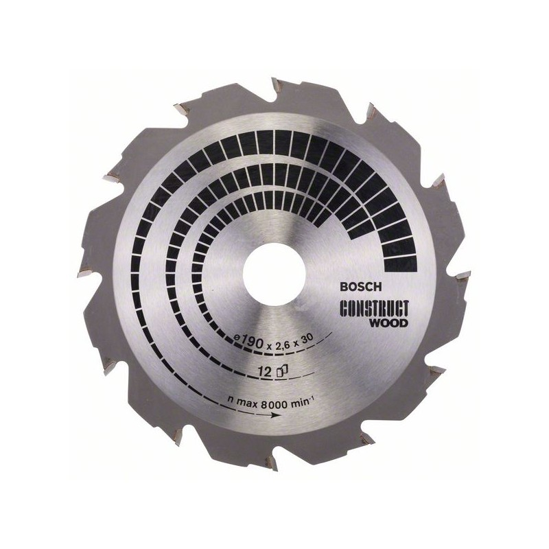 BOSCH-Saw Blade Circ. CW WO H 190x30-12