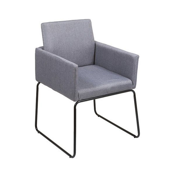 Armchair Stainless Steel Polyester (55 X 55 X 83 Cm)