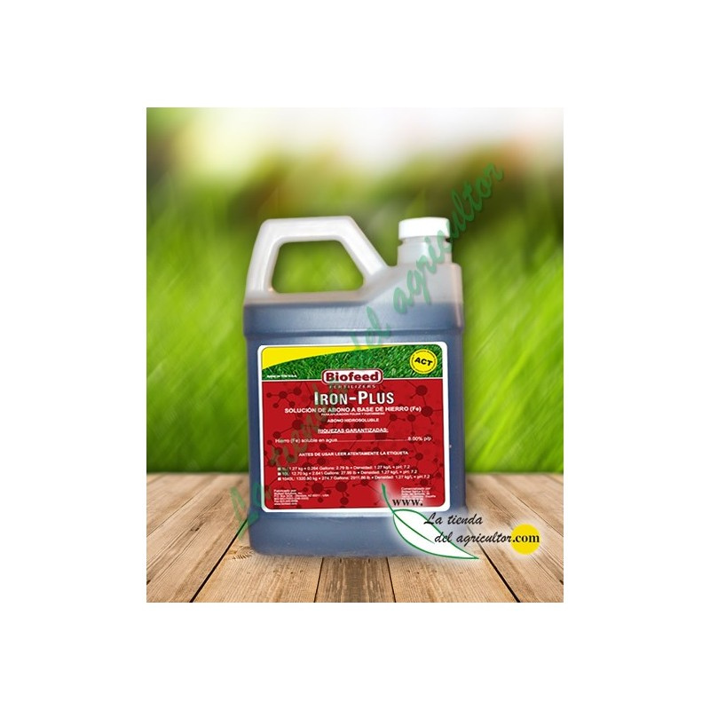 IRON-PLUS (1 Liter)-BASED FERTILIZER FOR AGRICULTURE And GARDEN IRON, IMPROVED RESISTANCE To DISEASES, SEQUIA-