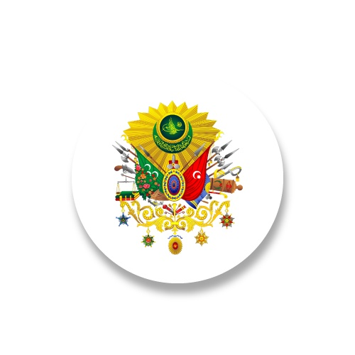 Coat Of Arms Of Ottoman Sticker Sticker 3x3 Cm 24lü