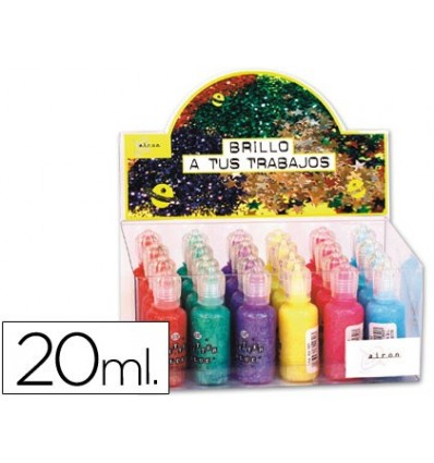 GLITTER TAIL COLOR CAKE-EXHIBITOR 24 UNITS