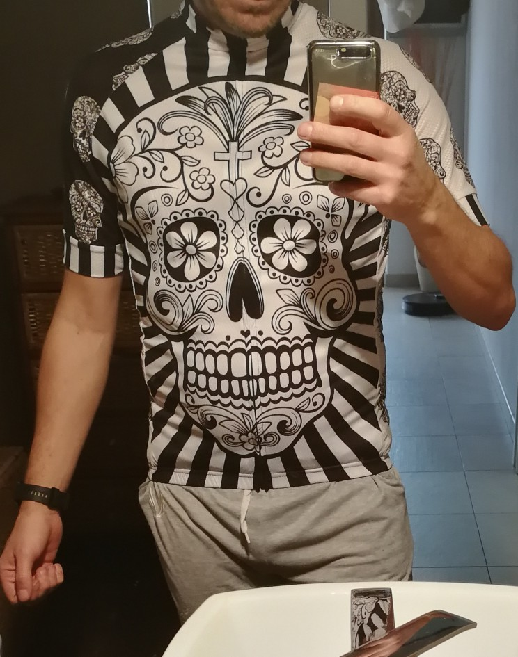 Skull Printed Quick Dry Cycling Jersey, 4 Types photo review