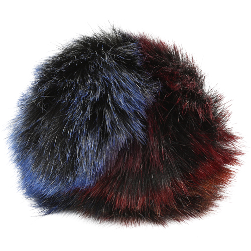 5as-269 Pompom Made Of Artificial Fur 12 Cm (2 Blue Multicolor)