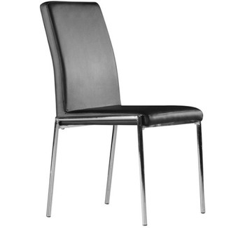Chair AURI, Chrome upholstered black