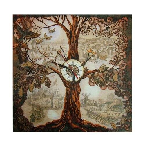 Em1001 Set For Embroidery 'Nova Sloboda' 'wood-watch', 50x50 Cm