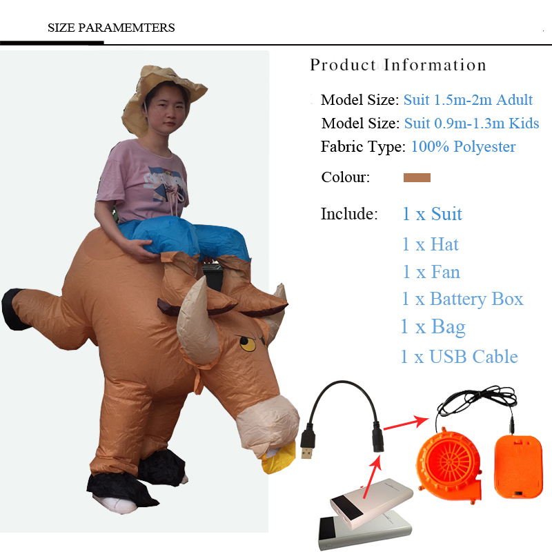 2018 Inflatable Halloween Costume For Adult Kids Fan T-rex Gorilla Sumo Cow Horse Cowboy Unicorn Dinosaur Inflatable Costume 4 (21)