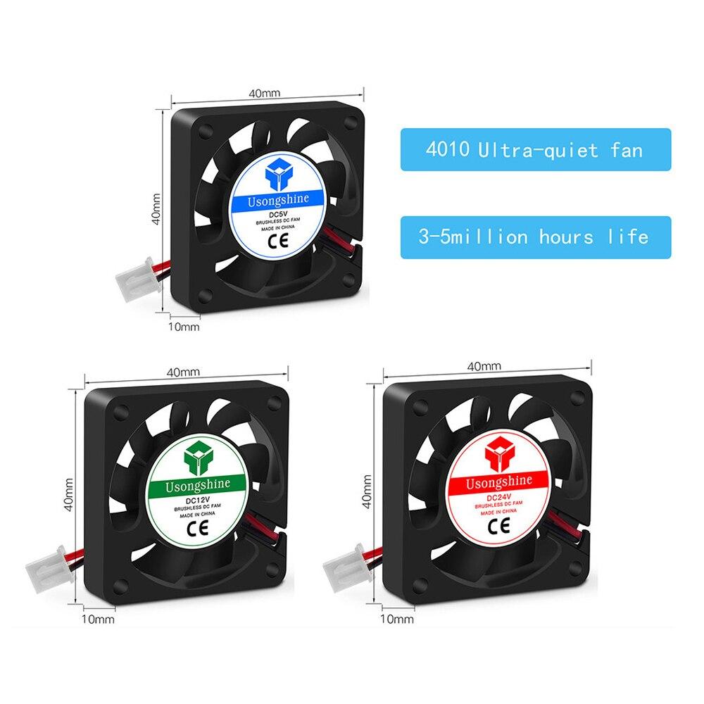 Запчасти для 3D-принтера 3010 4010 5015 Вентилятор охлаждения 12 в 24 В 5 в вентилятор турбо Бесщеточный вентилятор для V5 V6 Hotend Bowden экструдер J-head