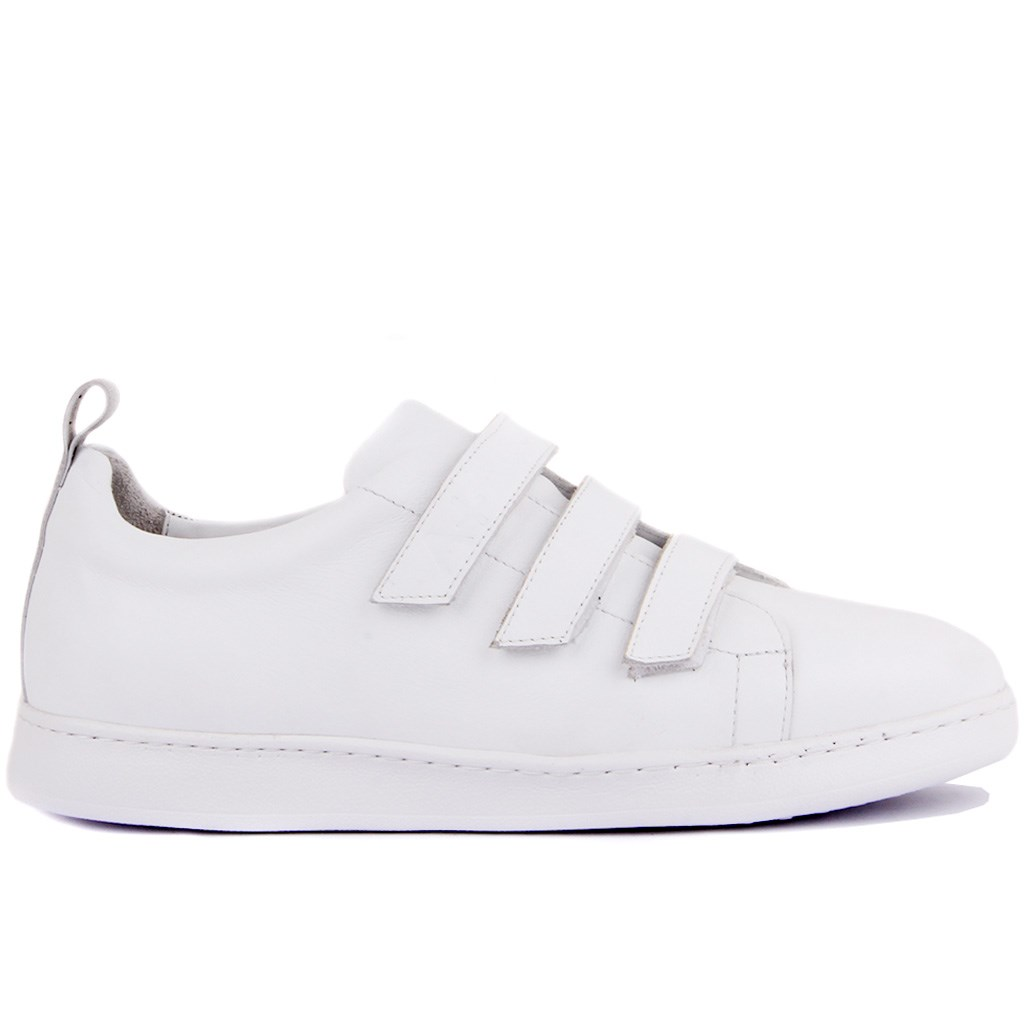 Sail-Lakers White Leather Men 'S Casual Shoes