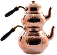 トルコティーポットアラビアティーポット銅ティーポット手作り茶セット伝統的なトルコ茶コーヒーポットケトルボイラー製トルコ -