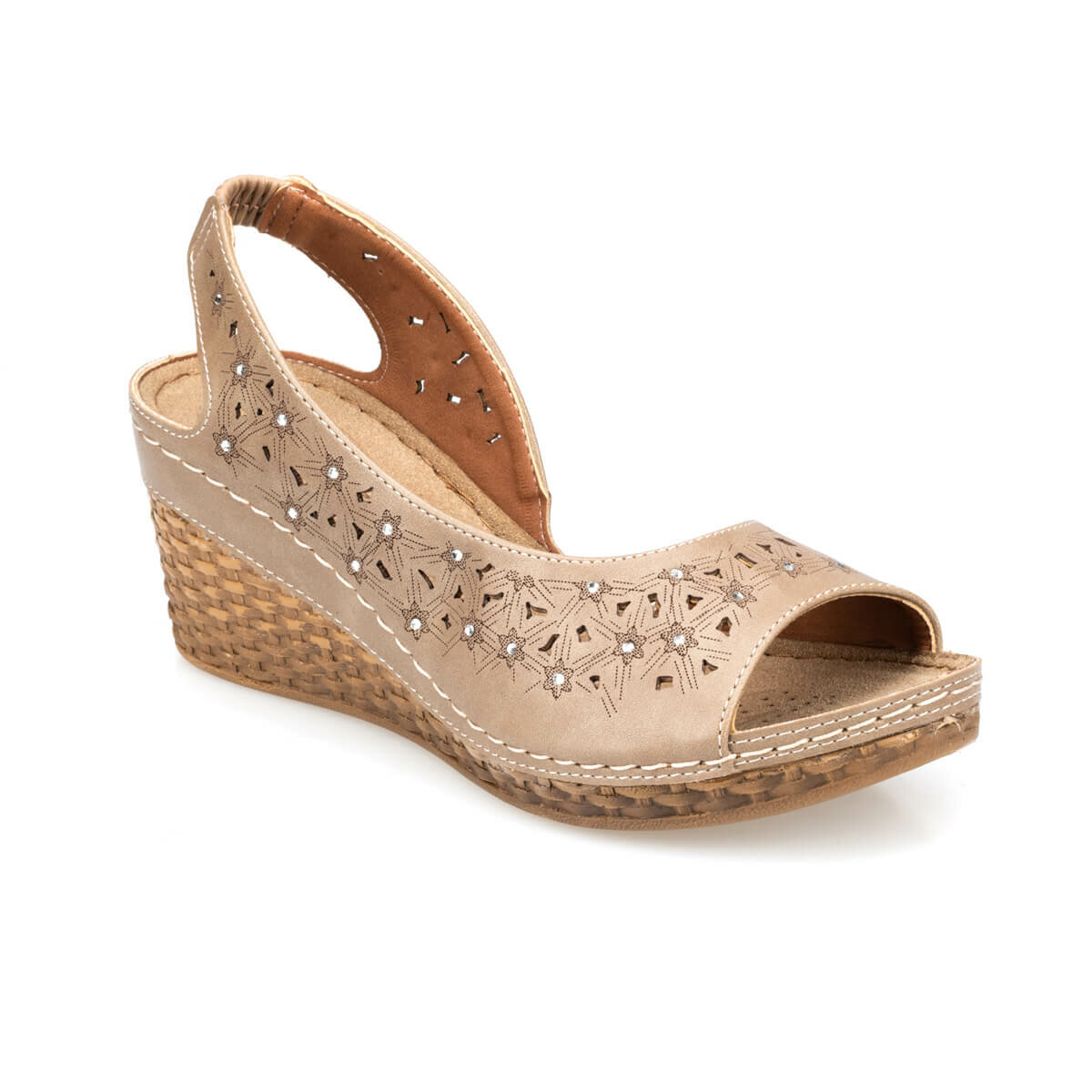 FLO Women Sandals Sand Color Women Sandals Breathable Comfortable Slippers Summer Shoes Женские сандалии 91.157342.Z Polaris