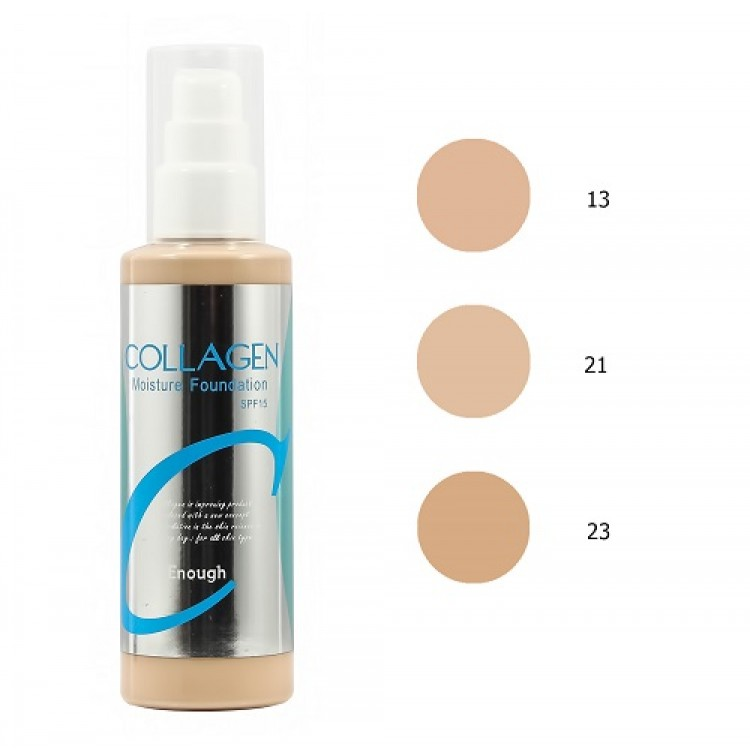 Suficiente, colágeno, base de tom hidratante, spf 15, n° 21, 100 ml