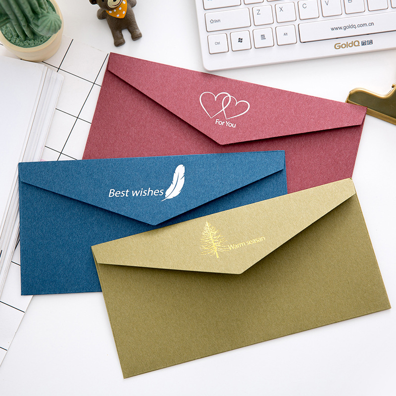 1PC Thickened Retro Elegant Wedding Gilt Envelope Business Invitation Letter Creative Love Letter Ancient Style Gilt