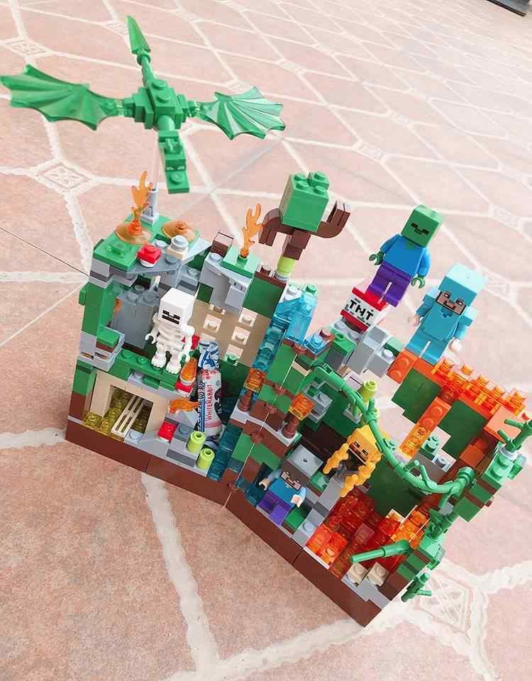 Где купить 2020 новые строительные блоки Набор шахты ремесло зомби светильник мой мир ад джунгли Стива Кирпичи игрушки для детей