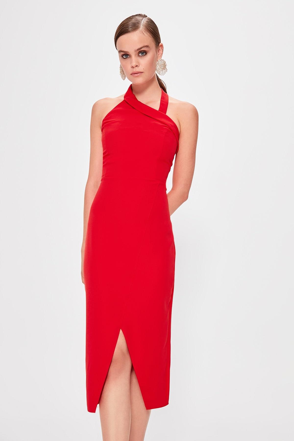 Trendyol Collar Detail Dress TPRSS19UT0119