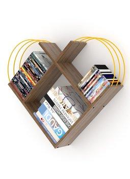 Meble do domu regał ścienny regał dekoracyjny regał na książki półki biblioteczne orzech-żółty tanie i dobre opinie TR (pochodzenie) Turkey 89x74x18 CM Nowoczesne Drewna meble do salonu Drewniane