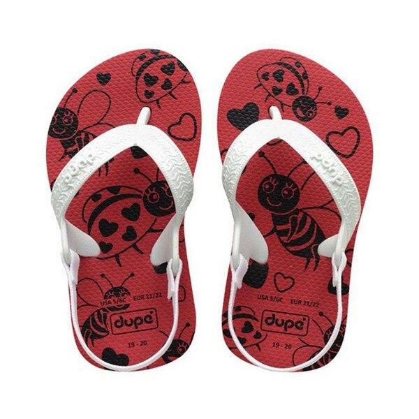 Flip Flops For Children Dupé Sweet Baby Red