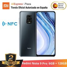 Xiaomi – smartphone, Redmi Note 9 Pro, RAM 6 go, ROM 128 go, 64 MP, téléphone intelligent, terminal mobile, Android, version internationale