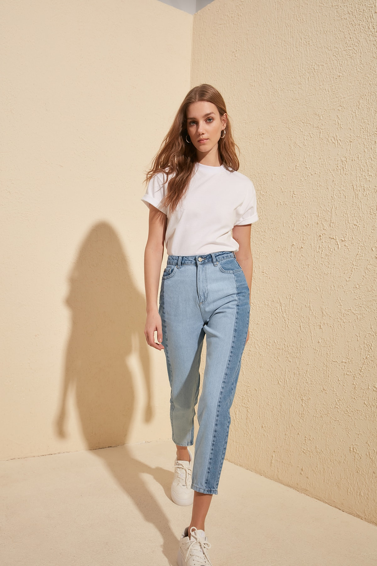 Trendyol Blocky High Bel Mom Jeans TWOSS20JE0080