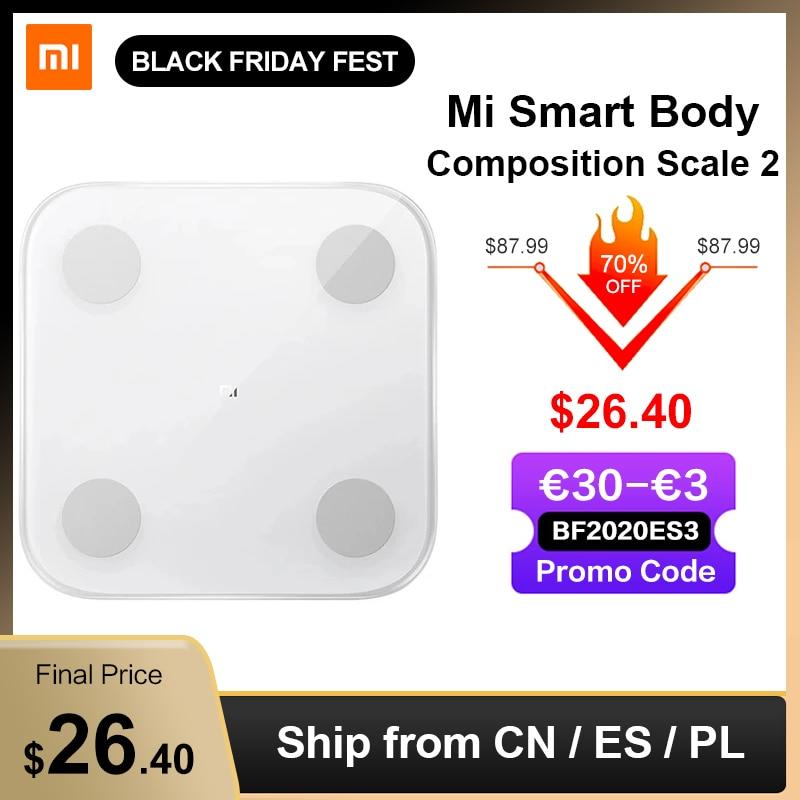 Xiaomi Mijia Mi Smart Body Composition Scale 2 Fat Weight Scale Bathroom Digital Electronic LED screen Balance APP Data analysis