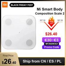 Xiaomi Mijia  Mi escala de composição corporal 2 balança eletrônica digital, com tela de LED APLICATIVO de análise de dados, para banheiro