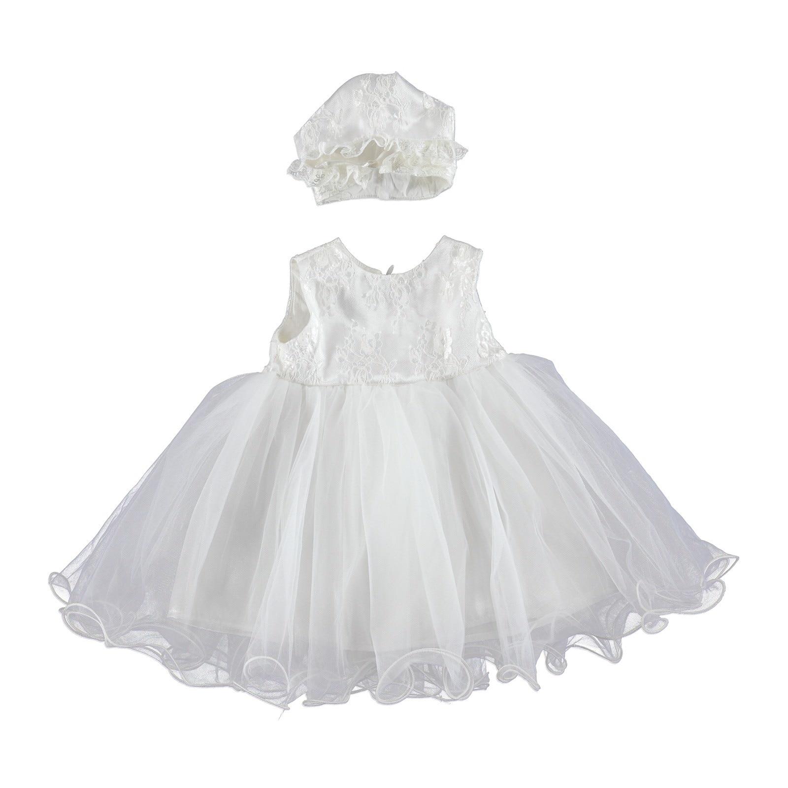 Ebebek Bestido Baby Girl Special Day Dress Hat 2 Pcs Set