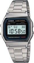 Оптическими зумом CASIO ретро унисекс с оптическими зумом Casio Часы A158WA-1Q с серебряным покрытием объектива с оптическими зумом Casio Для Мужчин's ...