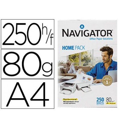 PAPER COPIER NAVIGATOR HOME PACK DIN A4 80 GRAMS PACK 250 SHEETS
