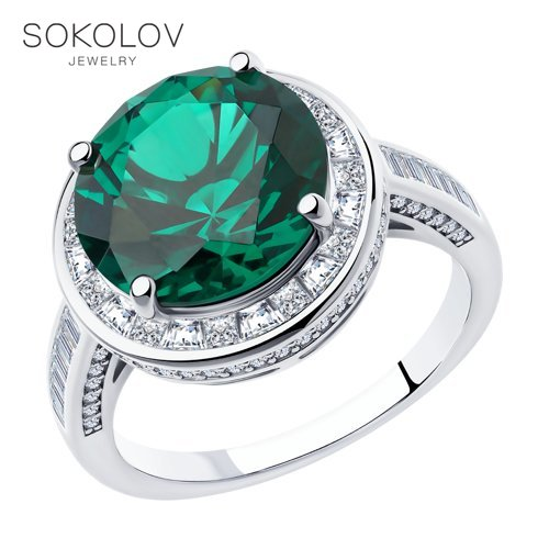 Sokolov Silver Ring, Fashion Jewelry, 925, Women's/men's, Male/female