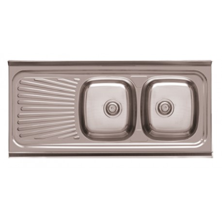 Sink For Furniture With Drainer Model Dp12050