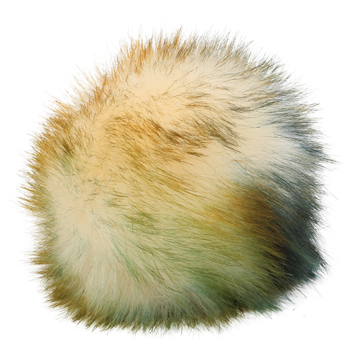 5as-269 Pompom Made Of Artificial Fur 12 Cm (1 Milky Green)