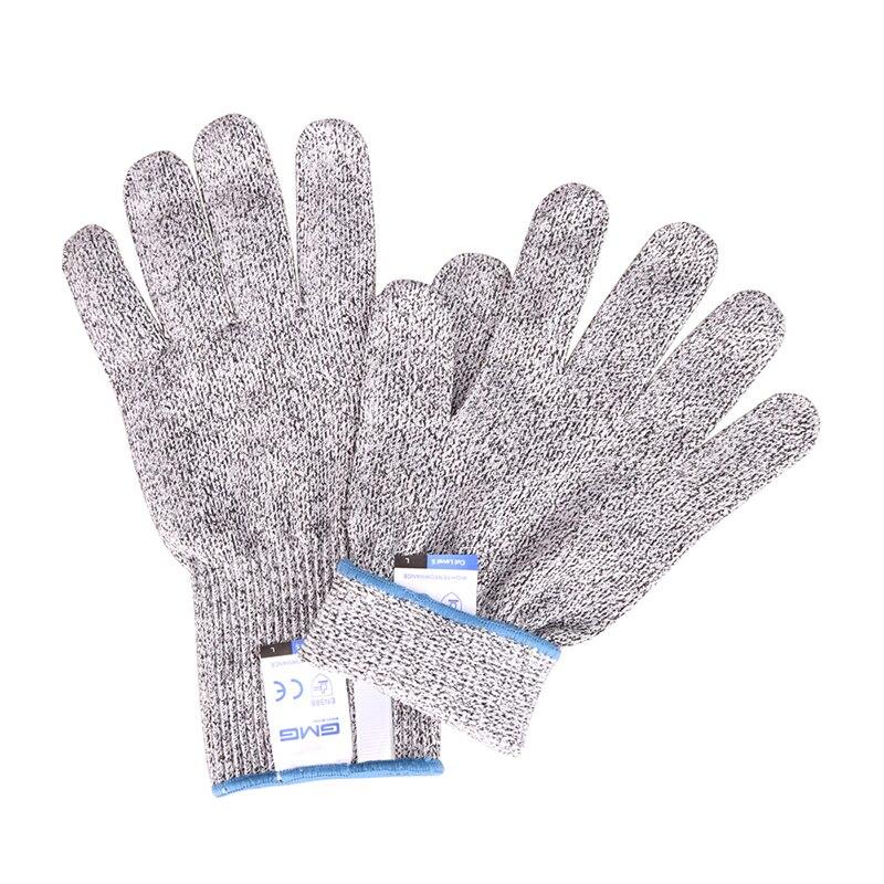 Перчатки с защитой от порезов для пищевых продуктов GMG Grey HPPE EN388 ANSI уровень 5 защитные рабочие перчатки с защитой от порезов