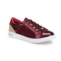 Flo z306 sapatos femininos borgonha butigo