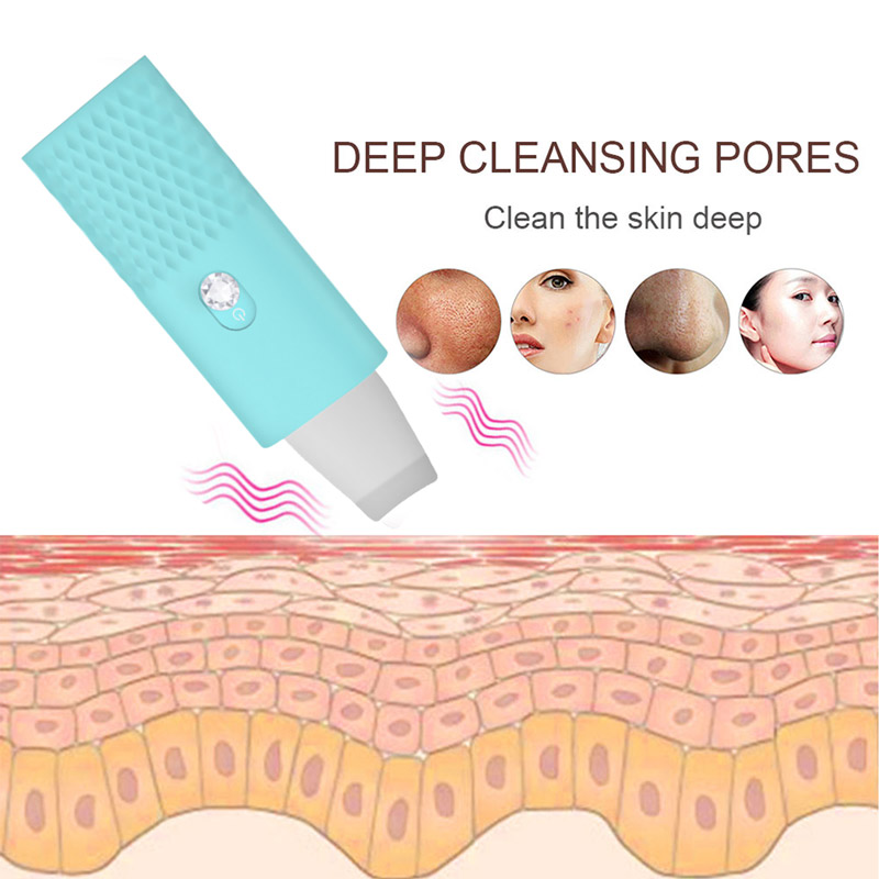 Skin Scrubber Ultrasonic Deep Face Cleaning Machine Electric Blackhead Remover Reduce Wrinkle And Spot Facial Whitening Lifting