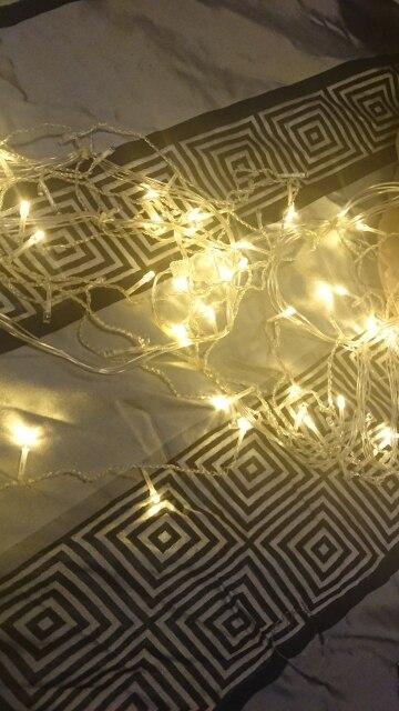 Fios de LED Decoração Cordas Jardim