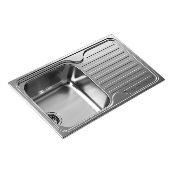 Sink With One Basin And Drainer Teka SF 10119013 Stainless Steel