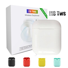 Original i18 Tws Wireless Bluetooth Earphone Mini 1:1 Touch Control 5.0 Heaphone With Charging Box for iPhone Android Earbuds
