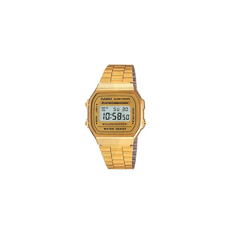 Retro Casio Watch Vintage Gold Tone A168WG-9EF Official
