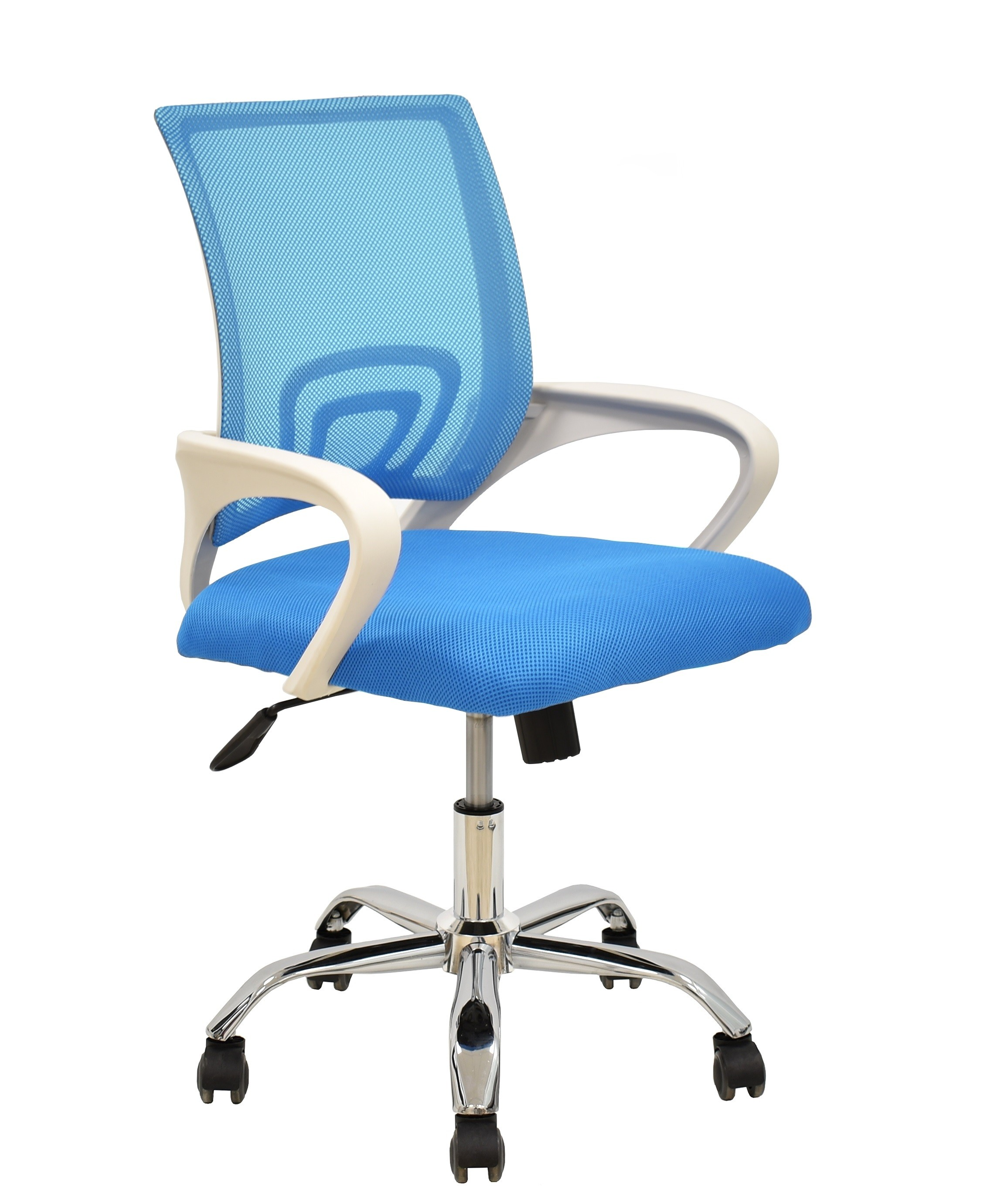 Office Armchair FISS NEW, White, Gas, Rocker, Mesh And Fabric Celeste