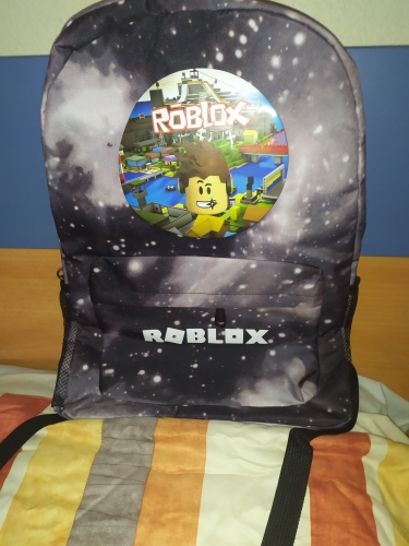 Galaxy Roblox Game Backpack Student Book School Bag Notebook Daily Backpack Mochila Boys Girls Gift photo review
