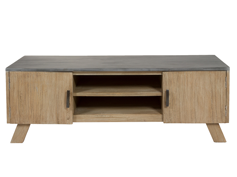 Television Table (130 X 42 X 45 Cm) Mindi Wood