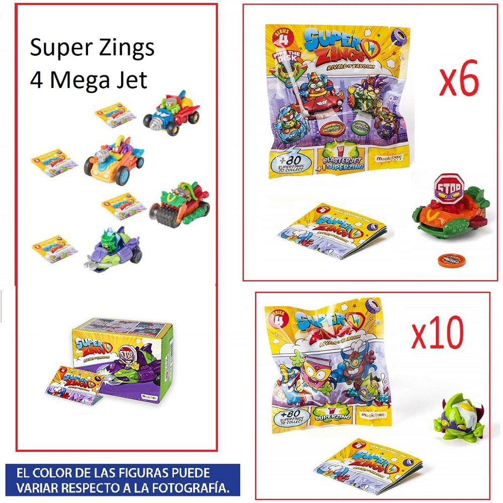 SuperZings Series 4-Set 20 PCs (10 Envelopes One Pack, 6 BlasterJets And 4 MegaJet)