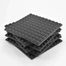 AcousPanel acoustic pyramid foam. 6 pcs of 50x50x4 cm. Anthracite gray Color. Flame retardant.