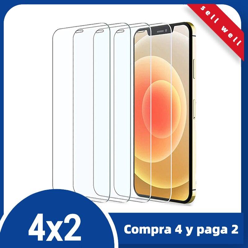 Прозрачное Защитное стекло для iPhone 11 12 Pro Max XS XR 7 7 6s Plus, Защита экрана для iPhone, закаленное стекло