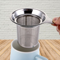Tea Infusers Reusable Fine Mesh Tea Strainer Lid Tea and Coffee Filters Stainless Steel Tea Mesh Kitchen Accessories Dropship