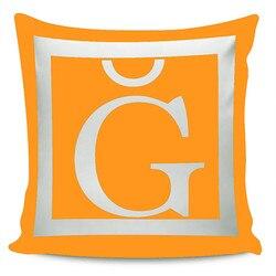 Belnido Home Premium ORK lettres thème oreiller décorer la taie KRB1911V7