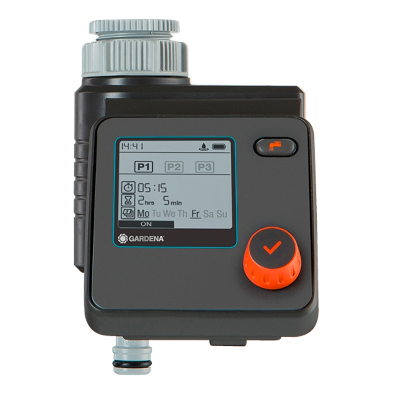 Timer for watering GARDENA 01891-29.000.00 (Installation time and choose days watering, working pressure 0.5 bar, waterproof